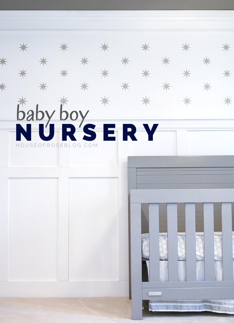 Perfect Baby Boy Nursery with Grey Crib HouseofRoseBlog